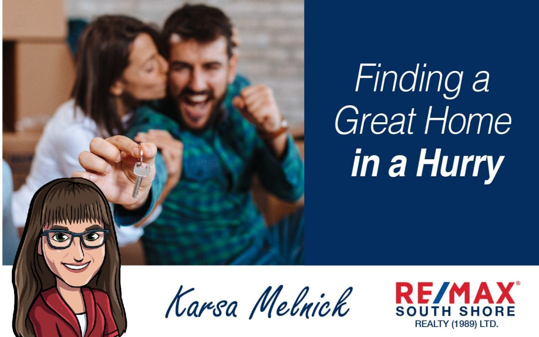 Finding a Great Home in a Hurry